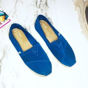 Toms Blue Suede Rope Sole